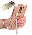 New 3D Bling Crystal Metal Bumper Hard PC Cover Mirror Phone Case for LG G Stylo