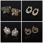 Different Designs Women Earrings Pearl Charm Ear Studs Gold Crystal Lady Earring