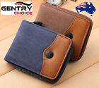 Bifold Zipper Closure Coin holder Card Holder Canvas and Leather Unisex Wallet