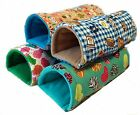Tunnel fun for small pets guinea pigs and rats hedgehogs NEW FABRIC CHOICES!
