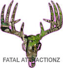 Pink Camo Deer Skull S6 Vinyl Sticker Decal Hunting Buck trophy whitetail bow