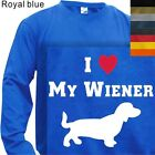MEN'S T-SHIRT LONG SLEEVE  I LOVE MY WIENER #105-S to 4XL PLUS