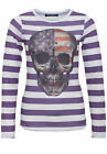 Blue Monkey-Longshirt mit Fotodruck Skull Style 5 18-3518 - faded purple