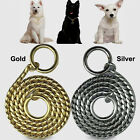 New Snake P Chock Chain Dog Show Training Collar Metal Pet Neck Collars Necklace
