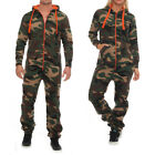 Hype Inc Unisex Damen Herren Jumpsuit Overall Camo Orange Zipper