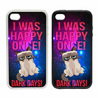 I Was Happy Once! -Rubber and Plastic Phone Cover Case- Grumpy Cat Meme