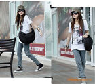 Popular Ladies Knitted PU Satchel Shoulder Handbags Casual Totes Cross Body Bag