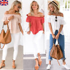 Womens Sexy One Off Shoulder Casual Frill Tops Loose Blouse Ladies T Shirt Tee