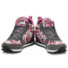 Skechers Womens Grey & Pink Retros OG 85 Hollywood Rose Mid High Trainers