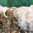 Engagement Ring XMAS Size 6 Pave Diamond 1.13CT VVS G-H 14k Yellow Gold Enhanced