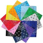 LOT OF 2----100 % COTTON PASLEY DESIGN BANDANA HEAD SCARF