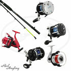 NGT SEA FISHING BOAT MAX ROD 6FT 2 PIECE 25LB & SEA REEL COMBO VARIOUS OPTIONS