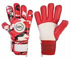 Football Goalkeeper Goalie GK Saver Camo Red Negative Cut Goalie Gloves Kids