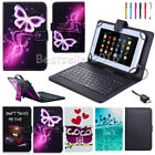 """US Shipping Print PU Leather Case Cover Micro USB Keyboard For 7"""" - 8"""" Tablet PC"""