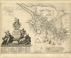 Plan of Boston, Mass. 1728, 1700's, New England, Town View, Old Map Print