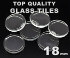 18mm Round Glass Tiles - Crystal Clear Circle Flat Cabochons - FREE SHIPPING