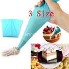 3 Sizes Silicone Reusable Icing Piping Cream Pastry Bag Cake Decorating Tool UK