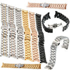Steel Stainless Deployment Clasp Watch Strap Band Bracelet Curved End 20mm-22mm