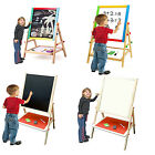 LARGE MEDIUM KIDS 2 IN 1 WOODEN EASEL DOUBLE SIDED LEARNING BOARD TOY XMAS GIFT