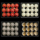 Box of 12 Glitter & Gem Christmas 80mm Baubles (DP) - Choose colour