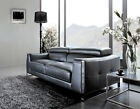 Fabric Split Top Grain Aniline Leather Modular Lounges Sofa Suite 1+2+3 Couches