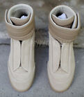 Maison Martin Margiela Future Beige Suede Leather High-Top Sneaker US 8 EU 41