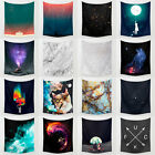 Night Sky Moon Hippie Hanging Polyester Retro Wall Tapestry Bedspread Home Decor