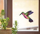Clr:wnd - Hummingbird - Stained Glass Style Vinyl Window Decal ©yydc Size Choice