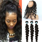 3Bundle/150g With Closure 360 Lace Frontal Hair Brazilian Body Wave With Closure