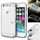 LED Light Up Self Incoming Call Luminous Phone Back Cover Case For Iphone 5/6