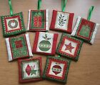Christmas Spice Fragranced Hanging Tree and Home Decorations in Reds Greens