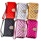 Wallet Phone Case Cover PU Leather Grid Flip Magnet Stand For Samsung S8 iPhone