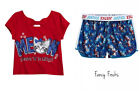 JUSTICE Girls Meow Kitten Shirt & Mesh Shorts Set, NEW, 16 Outfit  Patriotic