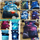 Cosmos Star Sky Sets Universe 3D Bedding Space Duvet Pillowcase Cover Bed Sheet