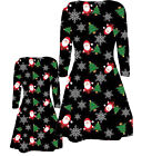 BABIES TODDLERS GIRLS MOTHER DAUGHTER CHRISTMAS SANTA TREE FLAKES XMAS DRESS