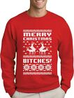 Merry Christmas Bitches Sweatshirt Xmas Ugly Sweater Humping Reindeer Funny