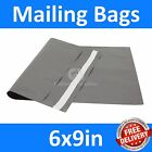 *6x9in* Grey Mailing Bags, Strong Poly Postal Postage Mail, Inc VAT, Free P&P