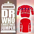 Doctor Dr Who Jumper BBC Official Tardis Daleks Christmas Sweater Collectables