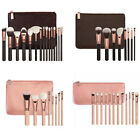 New Rose Golden Makeup Cosmetic Complete Eye Set Power Brushes with Case Bag