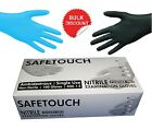 Heavy Duty Disposable Blue & Black Nitrile and White & Black Latex Gloves x 100