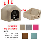 Small Indoor Dog House 2 Way Using Bed Sofa Kennel Pet Cat Windproof Cushion