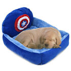 Pet Dog Cushion Beds Cap America Design Soft Cozy Fleece Dog Cat Cushion Bed Pad