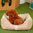 Pet Dog Floral Bed Cushion Pad Puppy Cat Dog Cozy Soft Lace Beds Cushion Kennels
