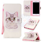 Lovely Cat Flip Trend Mix PU Leather Card Wallet Stand Case Cover For Phones #H