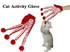 Cat Toy Activity Toy Polka Dot Deisgn Pet Scratch Glove Play With Your Cat Red