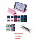 etui coque flip cover iphnoe 4 iphone 5 5S iphone 6 iphone 6 plus + film //