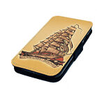 Nautical Tattoo Designs Printed Faux Leather Flip Phone Cover Case Jerry Vintage