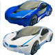 3D Supercar Style- Electric Toy With Wheel Lights & Music - Kids Boys Girls Gift