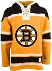 BOSTON BRUINS MEN'S RUGBY STYLE HEAVYWEIGHT ALTERNATE LACER HOODIE by OTH