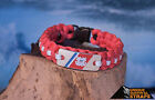 US Coast Guard light duty Red paracord bracelet with USCG Marker emblem charm 11